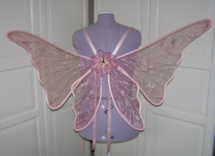 rosane Feenflügel nach Kundenwunsch