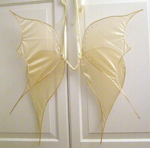 schlichte goldene Feenflügel, zweiteilig