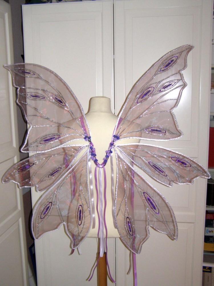 Dreiteilige Feenflügel nach Kundenwunsch in rosa und lila