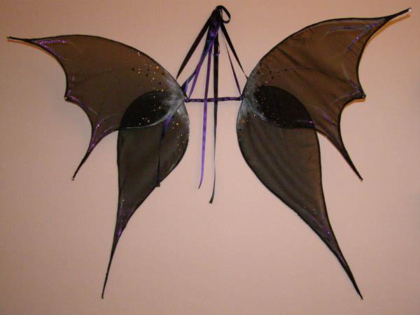 Feenflügel in schwarz und silber, zweiteilig
