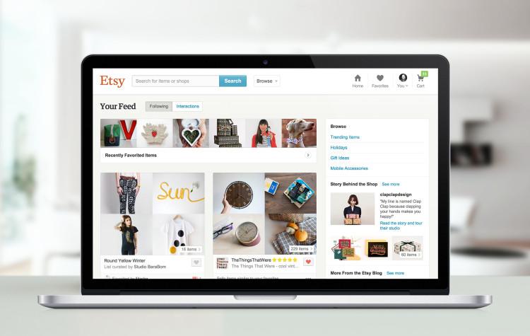 Deine (personalisierte) Startseite bei Etsy