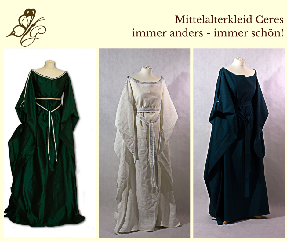 Mittelalterkleid Ceres. Verschiedene Varianten nach Kundenwunsch