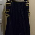 Rückenansicht Kleid italienische Renaissance