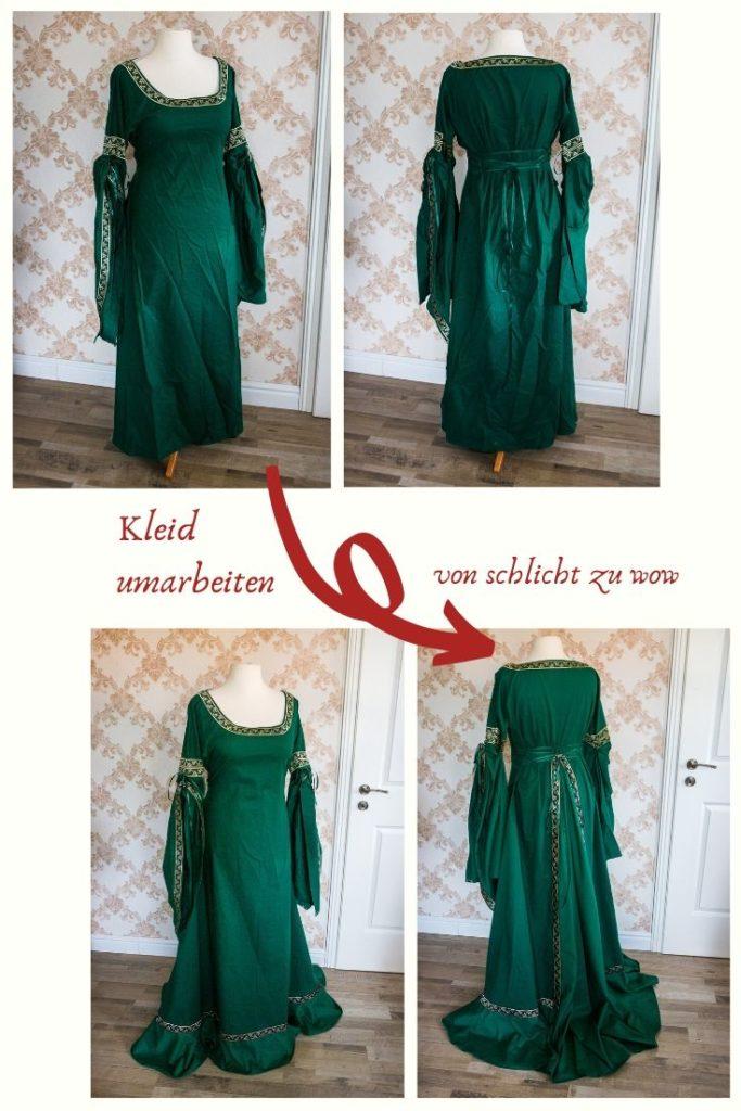 Kleid umarbeiten von schlicht zu wow. Kleid verlängern und weiter machen