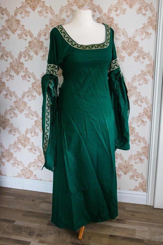 Grünes Mittelalterkleid mit Rückenschnürung