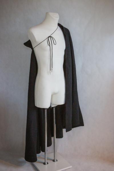 Tudor-Umhang schwarze Wolle