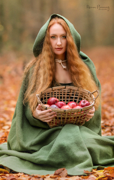 Radmantel grüne Wolle