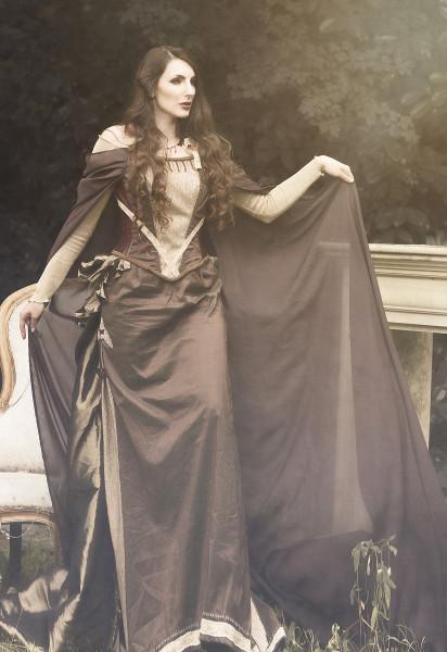 Steampunkkleid elegant-romantisch, Größe M
