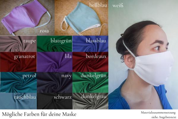 Behelfs-Mundschutz aus Baumwolljersey, mix und match