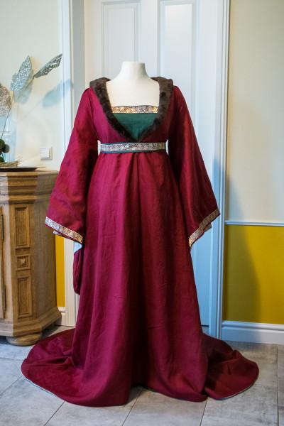 Mittelalterkleid Houppelande für Damen